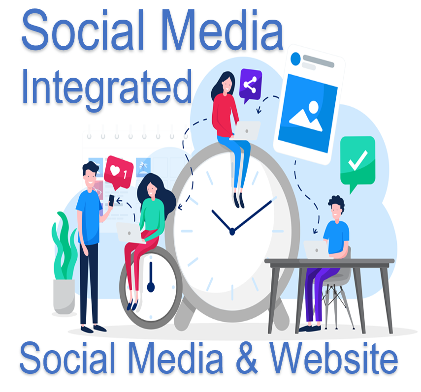 Social Media Posting and Website
